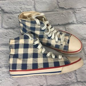 Mini Boden Girls sneakers. Checkered high top 32